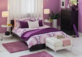 Small Purple Bedroom Bedroom Ultimate Purple Comforter Platform Bed And White Shade