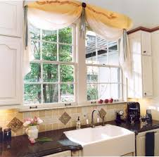 Window Dressing For Kitchens Curtain Ideas For Yellow Kitchen Kitchen Window Dressing Dressing