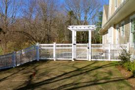 brown vinyl picket fence. White Vinyl Picket Fence Beacon Hill Style By Atlas Outdoor Ct Brown C