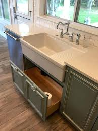 grey farmhouse sink kitchen farmhouse a sink with drain board grey cabinets with under sink drawer