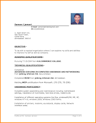 022 Download Simple Resume Format In Ms Word Endearing Document For