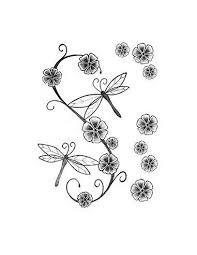 Vážky A Květiny Nalepovací Tetování