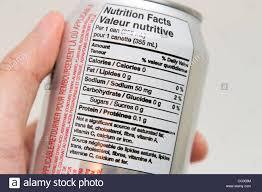 Coca Cola Nutrition Chart Nutrition Label Diet Coke Can Coca Cola Stock Photo