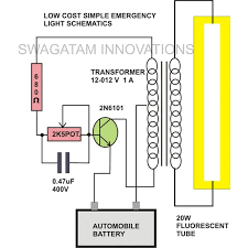 watt tubelight emergency light circuit diagram electronic 20 watt tubelight emergency light circuit