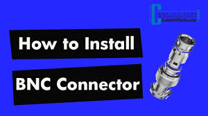 How To Install a <b>BNC Compression</b> Connector - RG58, <b>RG59</b>, RG6 ...
