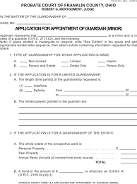 Download Ohio Guardianship Form For Free - Formtemplate