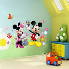 minnie and mickey wall stickers wall