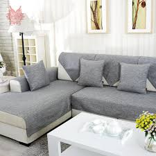 grey melange sofa cover slipcovers cotton sectional couch covers fundas de sofa capa de sofa capa para sofa sp2599 in sofa cover from home garden on