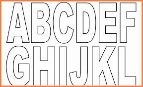 Alphabet Outline Template Block Letter Outline Under Fontanacountryinn Com