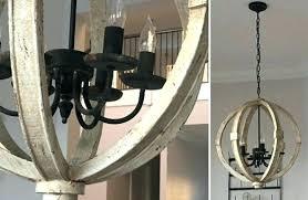 wood orb chandelier wood and metal orb chandelier distressed white wood orb chandelier wood metal orb