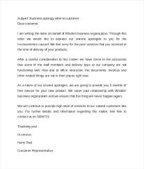 apology to customer for poor service business apology letter to customer sample vbhotels co