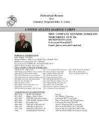 CROSS RESUME Inspiration Marine Corps Resume