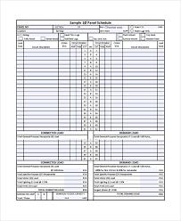 Calendar Template Pdf Adorable 48 Panel Schedule Templates Sample Templates
