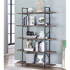 industrial style shelving. O\u0026K Furniture 5-Tier Industrial Style Bookshelf, Wood And Metal Bookcases Furniture, 70\ Shelving