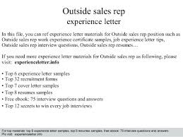 Outside Sales Resume Examples Sales Representative Resume Objectives ...