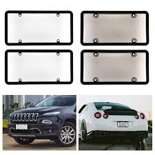 Number Plate Frame Design Universal 2x Clear Smoke Car License Plate Frame Cover Bug