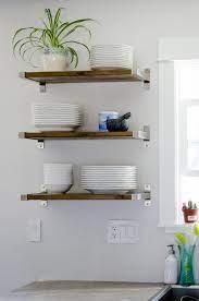 diy open shelving kitchen wall shelves