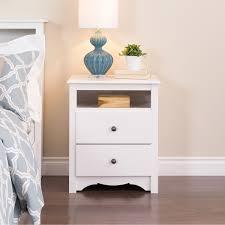 open shelf nightstand. Interesting Nightstand Prepac Monterey White Tall 2Drawer Nightstand With Open Shelf  Walmart  Canada Inside D