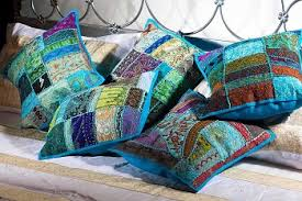 Buy Online-Decorative Patchwork Pillow Covers-Decorative Handmade ... & Patchwork Cotton Cushions/Pillows Covers Set of 5 Pcs Adamdwight.com
