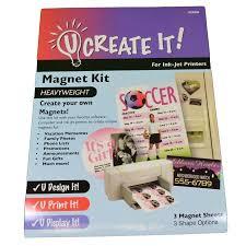 u create it magnet kit print at home business cards save the date u create it magnet kit print at home business cards save the date 3 sheets
