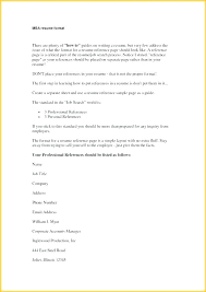 Example Of Reference Letters For Employment Standard Letter