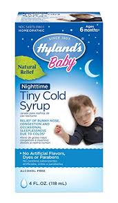 Hylands Baby Nighttime Cold Syrup Natural Relief Of Runny Nose Congestion And Sleeplessness 4 Ounce