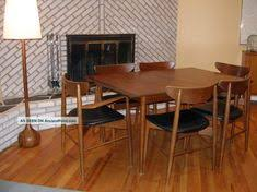 mid century modern dining table chic danish mid century modern walnut dining room set w 6 chairs 3 leaves 1 lgw