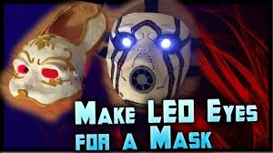 Halloween Mask Light Up Eyes How To Make Led Eyes For A Mask Light Up Eyes Tutorial