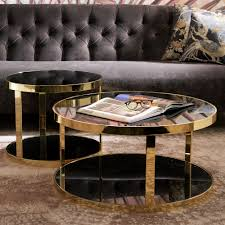 luxury italian designer round coffee table