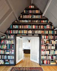 Huge bookshelves. Can't live without them.
