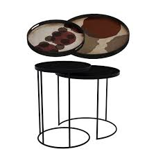 tray nesting tables high round pinot layered dots and overlapping dots