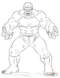 Hulk Coloring Page Free Printable Pages And Incredible Wumingme