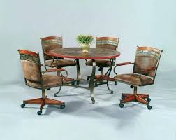 strikingly inpiration swivel dining chairs with casters 4 dining room