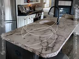 veined kitchen island concrete countertop intended for cement inspirations 49