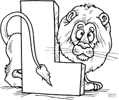 Small Picture Letter L is for Lion coloring page Free Printable Coloring Pages