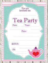 tea party templates tea party invitations template afternoon tea party invitation party