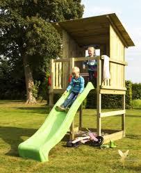 Woodinis Spielturm Holz Spielhaus Raven Inkl Real