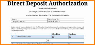 Direct Deposit Template Free 027 Direct Deposit Authorization Form Template Ideas Payroll