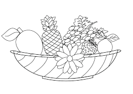 Coloring Pages Fruits Free Printable Fruit Coloring Pages Colouring