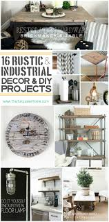 Industrial Living Room Decor Style Trend 16 Rustic Industrial Decor Ideas And Diy Projects