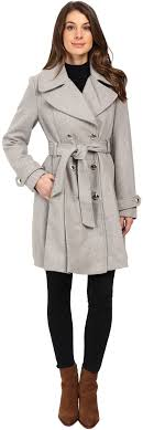 jessica simpson double ted trench jacket w pleated skirt eqoxwxm