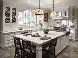 long kitchen island with seating | Wide Kitchen Islands with Seating and  Marble Top Placed near
