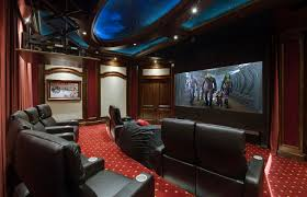 diy home elements and style medium size elan transforms a golf simulator game room into home theater