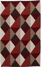 jaipur elmhurst flatweave red patterned modern rug