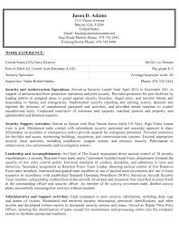 Military Civilian Resume Template Military Resume Examples For