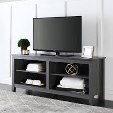 Basketball Display Stand Walmart WE Furniture 100Inch Wood Charcoal Grey TV Stand Walmart 74