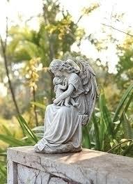 angel garden statue. angel \u0026amp; baby garden statue - 15\u0026quot
