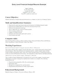 Financial Analyst Resume Objective Financial Analyst Resume Examples Data Analyst Resume Template 94