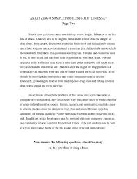Example Of A Problem Solution Essay Essay Example Problem Solution Problem And Solution Essay Examples