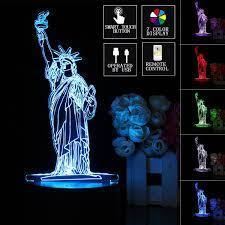Đèn Led 3d Để Bàn Hình Tượng Nữ Thần Tự Do tại Nước ngoài